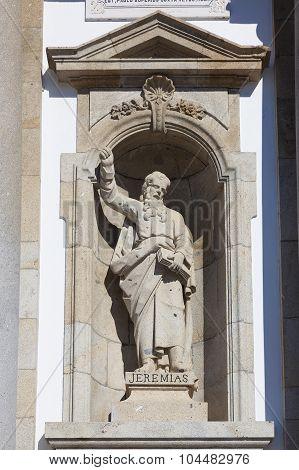 Statue Of Jeremias In Bom Jesus Do Monte, Braga, Nord, Portugal