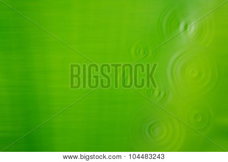 Abstrac Green Colour Background With Ripple.