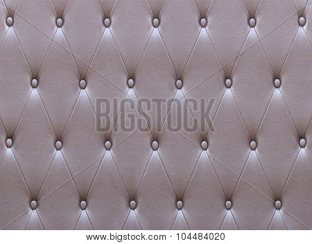 Pattern Of Brown Leather Seat Upholstery