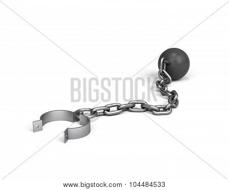 Metallic Ball And Chain
