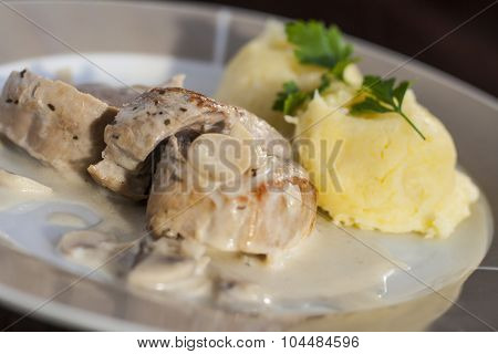 Roasted Pork Tenderloins With Champignon Mushroom Gravy