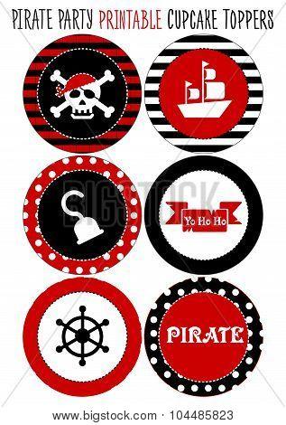 Party set printable. Pirate theme party