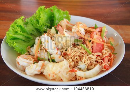 Yummy Seafood With Noodles