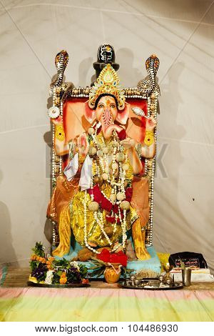 Idol of Ganesh during Ganpati Festival.