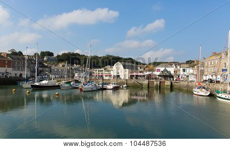 British UK harbour Padstow North Cornwall England UK beautiful late summer sun