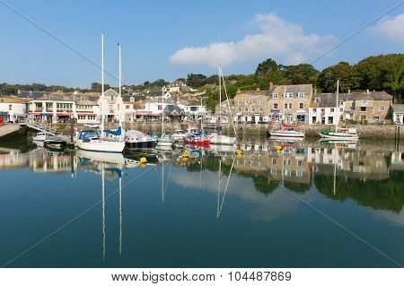 Cornish harbour Padstow North Cornwall England UK beautiful calm fine weather