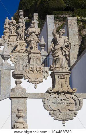 Sculptures In Bom Jesus Do Monte, Braga, Nord, Portugal