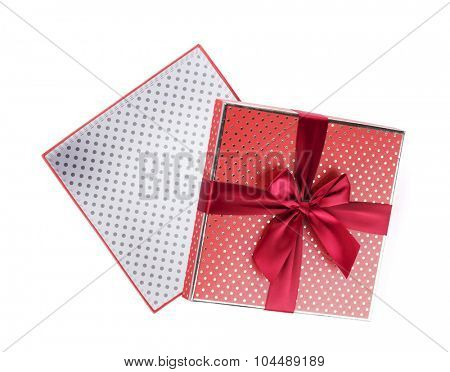 Gift box open. Isolated on white background