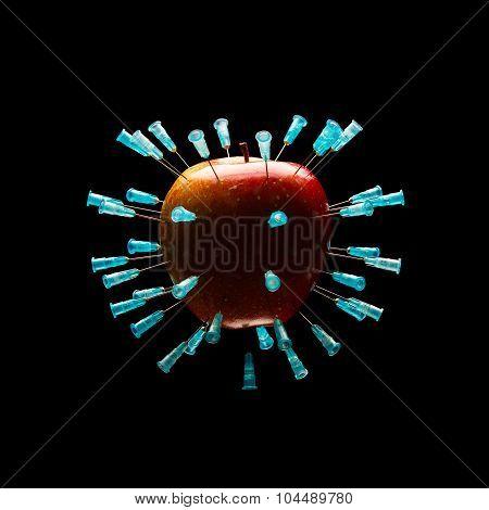 Apple With Needles 2