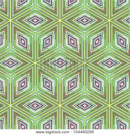 Primitive Simple  Green Retro Pattern