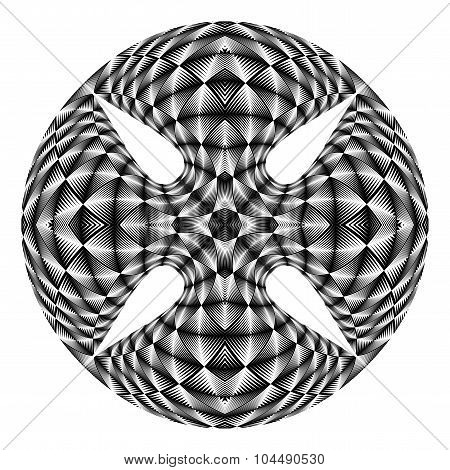 Design Warped Circle Textured Backdrop