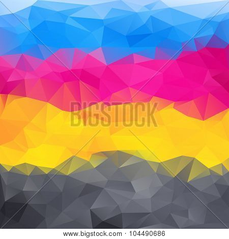 Abstract Background In Cmyk Colors