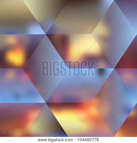 Blur lights city background