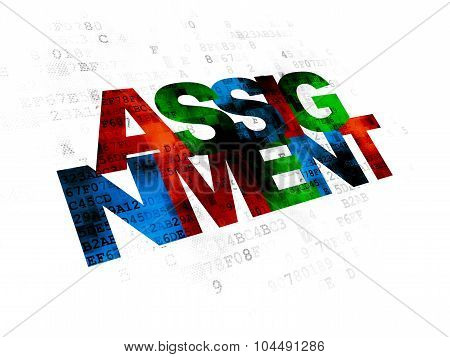 Law concept: Assignment on Digital background