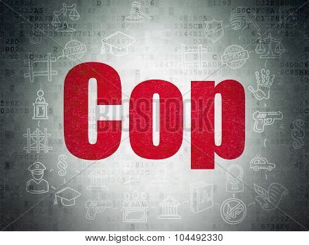 Law concept: Cop on Digital Paper background