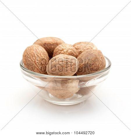 Bowl of Organic Nutmeg.