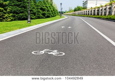 Modern asphalt track for cyclists