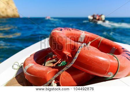 Life-buoys in the sea