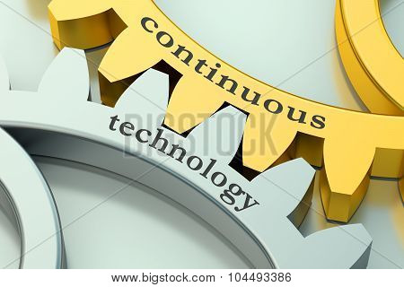 Continuous Technology Concept On The Gearwheels