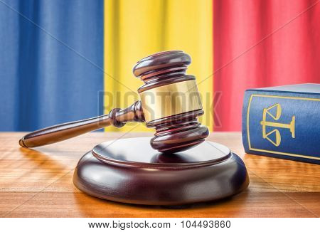 A Gavel And A Law Book - Romania