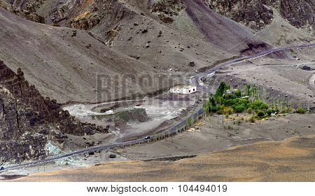 Rocky Landscape Of Leh City , Ladakh, Jammu And Kashmir, India