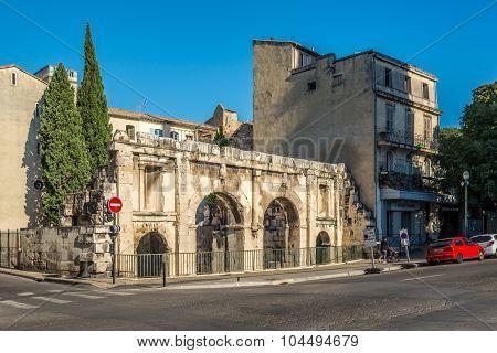 Ancient Porta Augusta Of Nimes