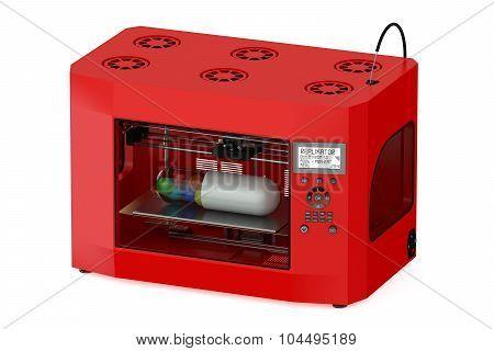 Red 3D Printer