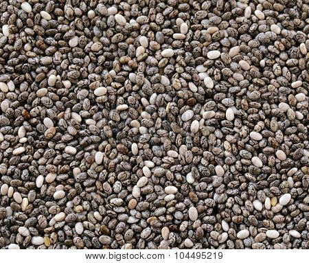 natural organic chia seeds - healthy eating, super food