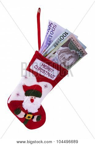 Christmas Sock And Money