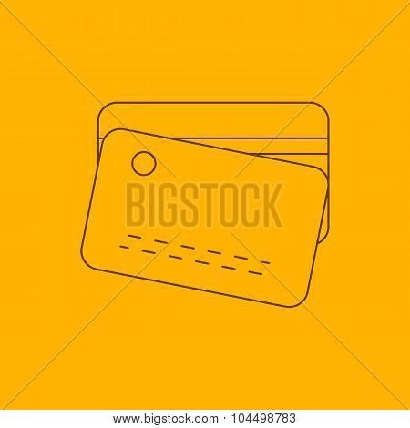 Plastic card line icon