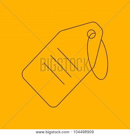 String tag line icon