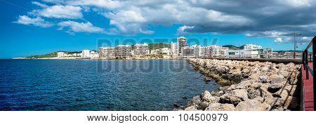 Panorama Of Sant Antoni Town. Ibiza