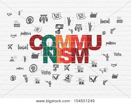 Political concept: Communism on wall background