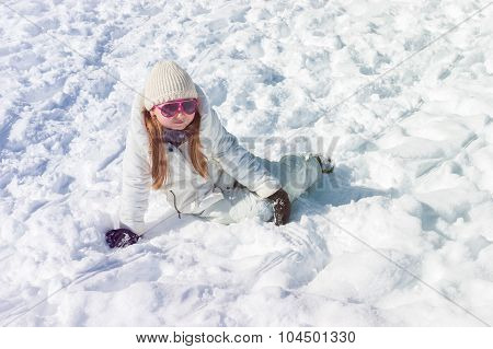 The Girl On Snow