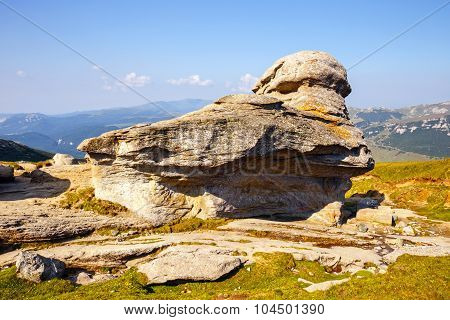 Geomorphologic Rocky Structures In Bucegi Mountains, Romania
