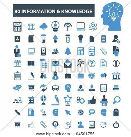 80 information, knowledge base icons
