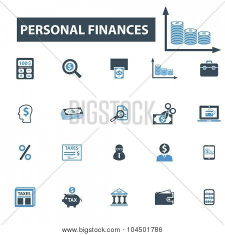 personal finance icons
