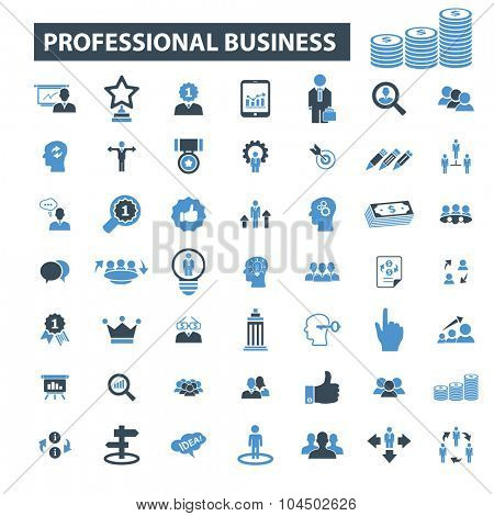 professional business, finance icons