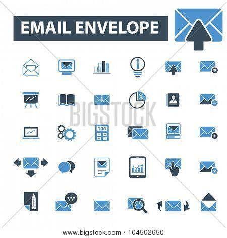 email, message, envelope icons