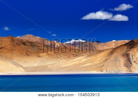 Mountains,pangong Tso Lake ,leh Ladakh,jammu And Kashmir,india