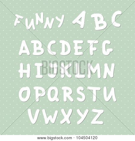 Vector Funny Uppercase English Alphabet