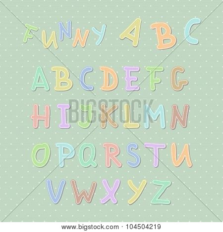 Vector Funny Colorful Uppercase English Alphabet