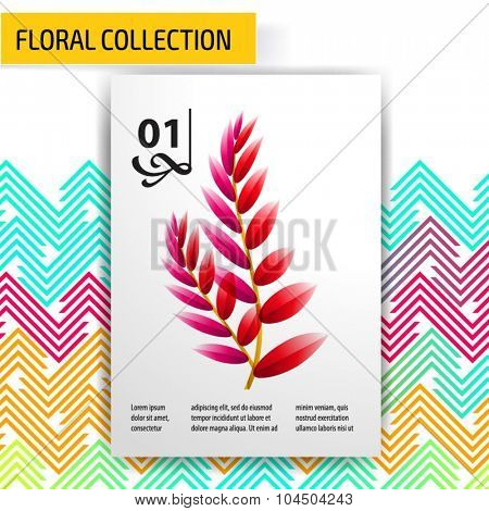Seamless vector floral tropical pattern background with jungle leaves.