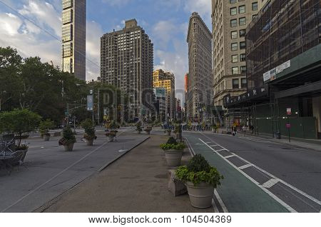 Intersection Of Broadway And Fifth Avenue