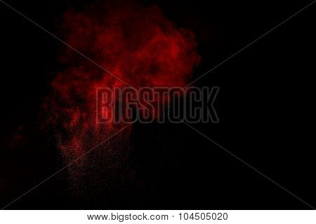 Abstract Design Of Red Powder Cloud.