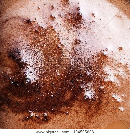 Abstract Coffee Foam Background