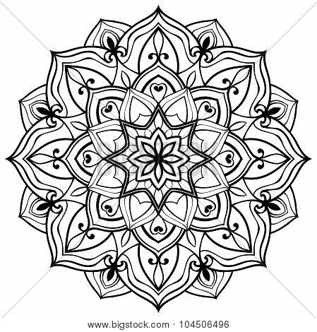 Vector Outline Mandala.