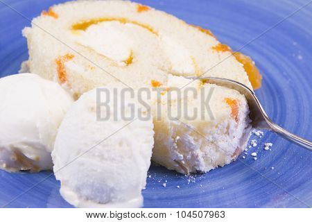 Orange swiss roll