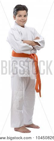 Orange Belt Judo Kid