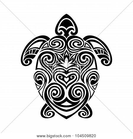 turtle in maori tattoo style. Vector illustrations